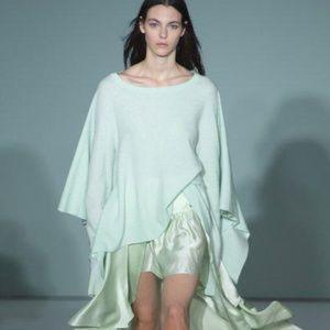 SIES MARJAN Green Marnie Cape-back Wool Sweater